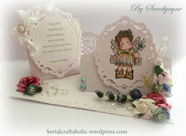 Double Magnolia card by Sarahjayne