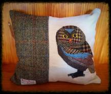 Owl Cushion by Sarahjayne